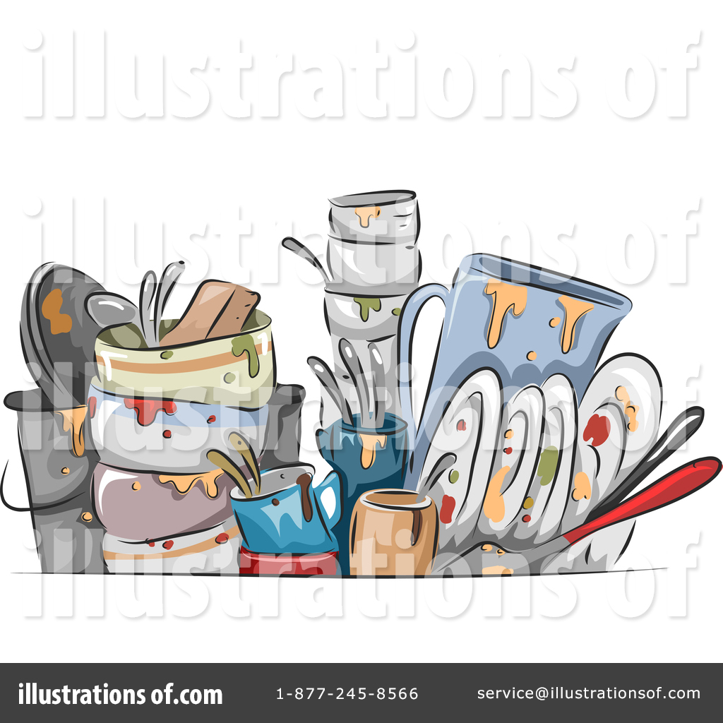 Messy Kitchen Clipart: Dirty Dishes Clipart #1346854