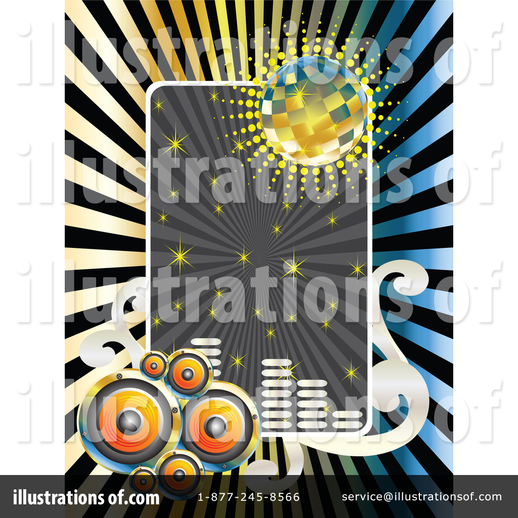 Disco Clipart #1103317 - Illustration by Andrei Marincas
