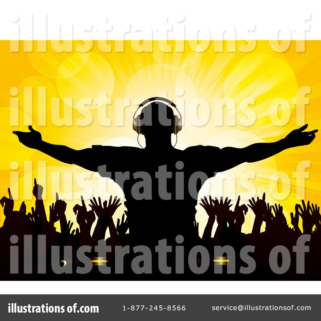 Dj Clipart #1059315 - Illustration by elaineitalia