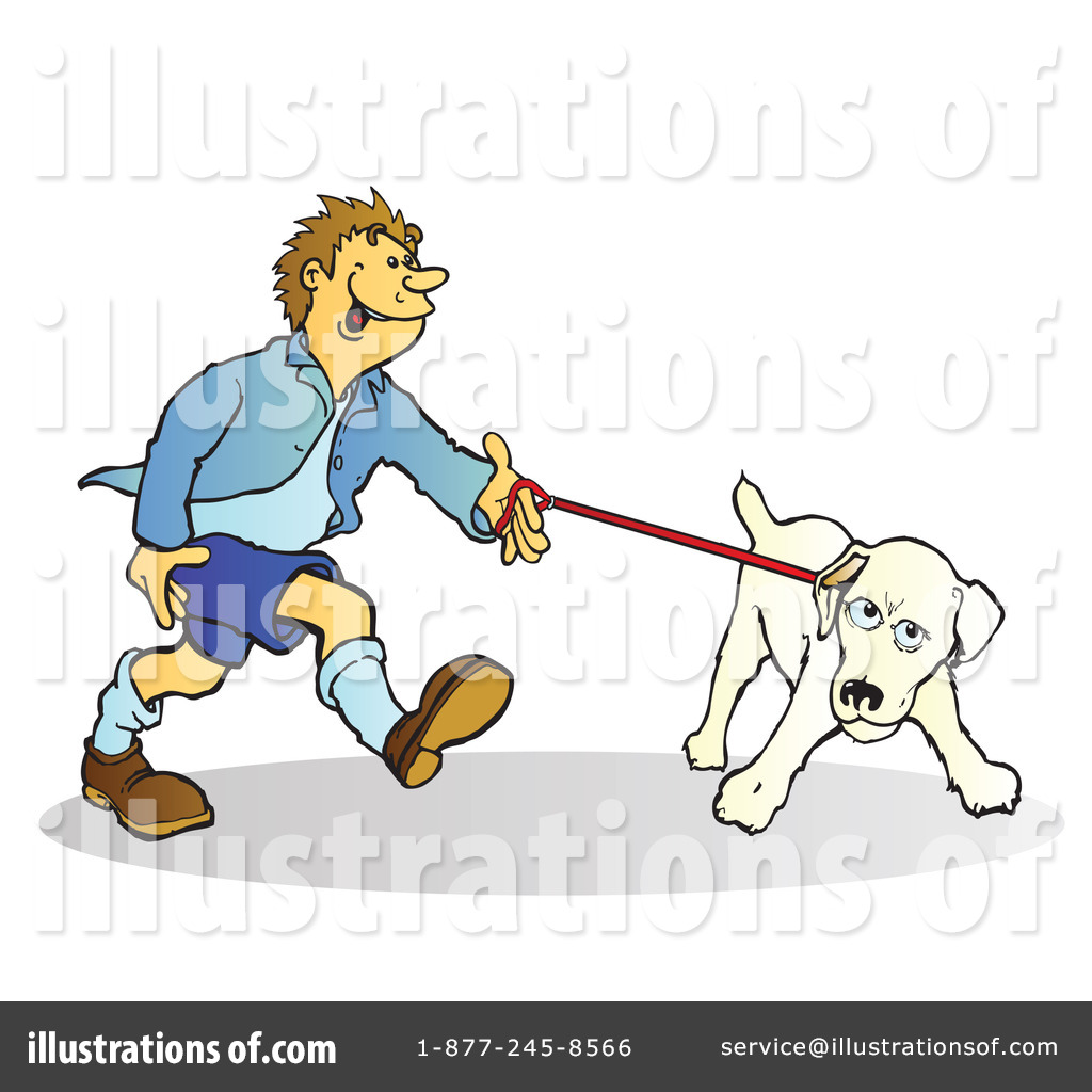 Dog Walker Clipart #79712 - Illustration by Snowy