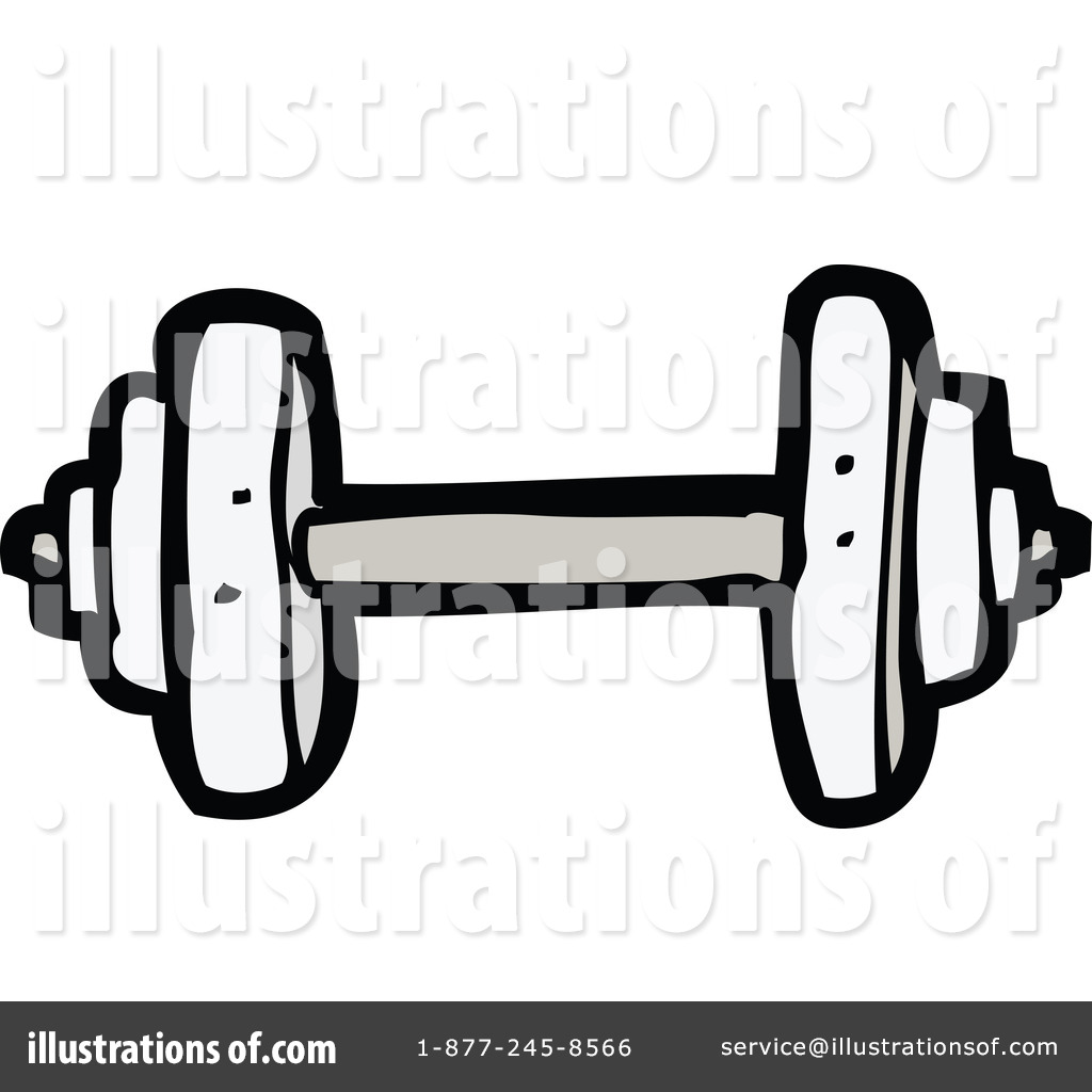 Dumbbell Clipart #1148283 - Illustration by lineartestpilot
