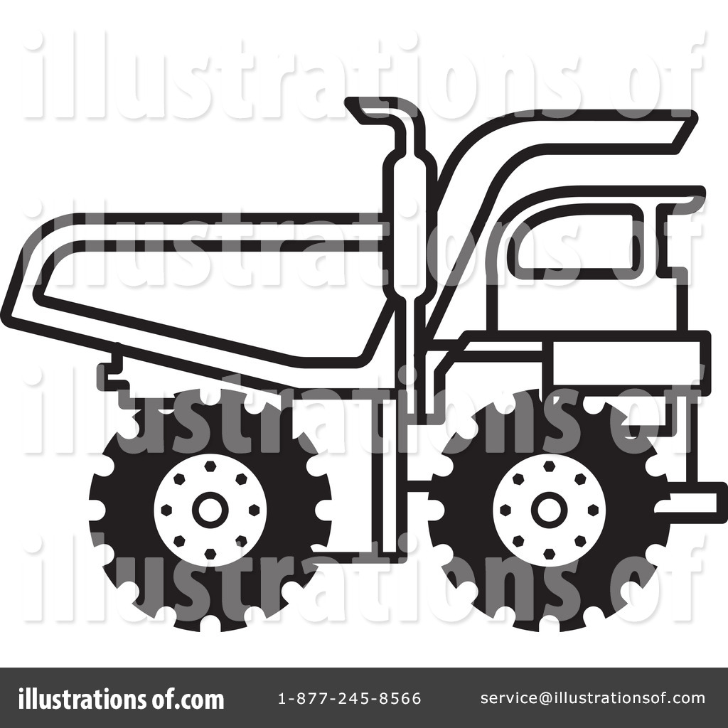 Dump Truck Clipart #1104731 - Illustration by Lal Perera