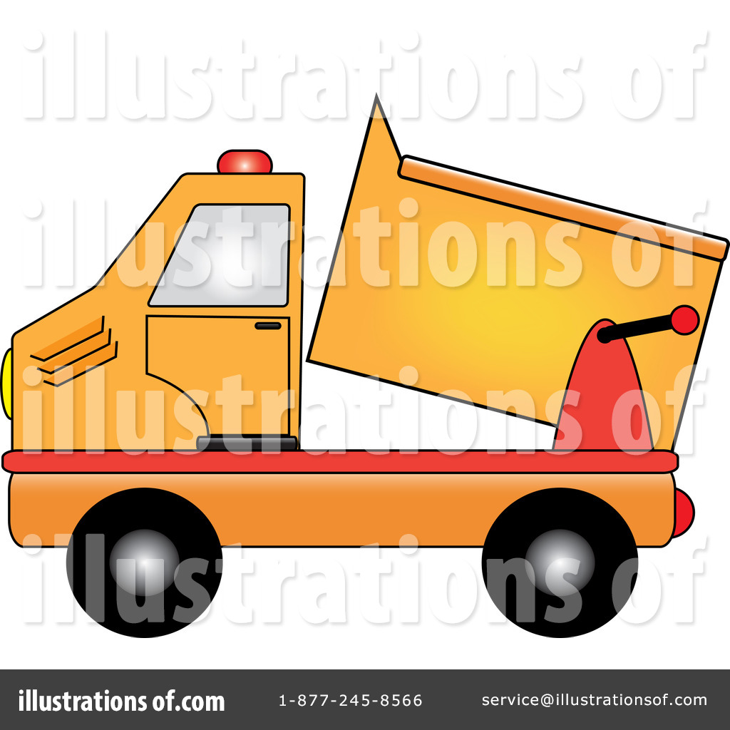 Dirt dump truck. Clipart illustration by pams