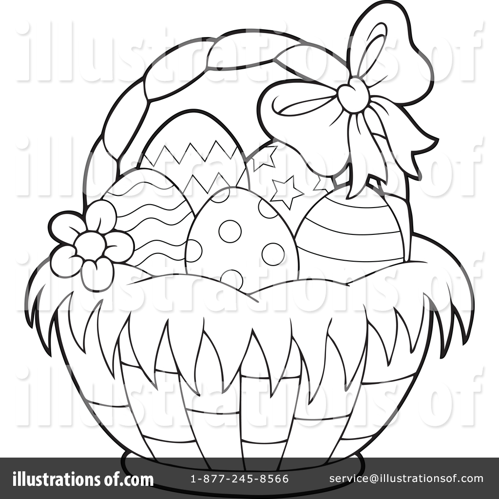 Royalty Free RF Easter Basket Clipart Illustration 1382868 By Visekart