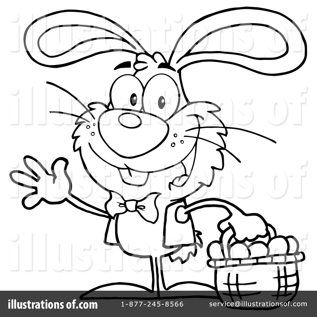 Royalty Free RF Easter Bunny Clipart Illustration By Hit Toon