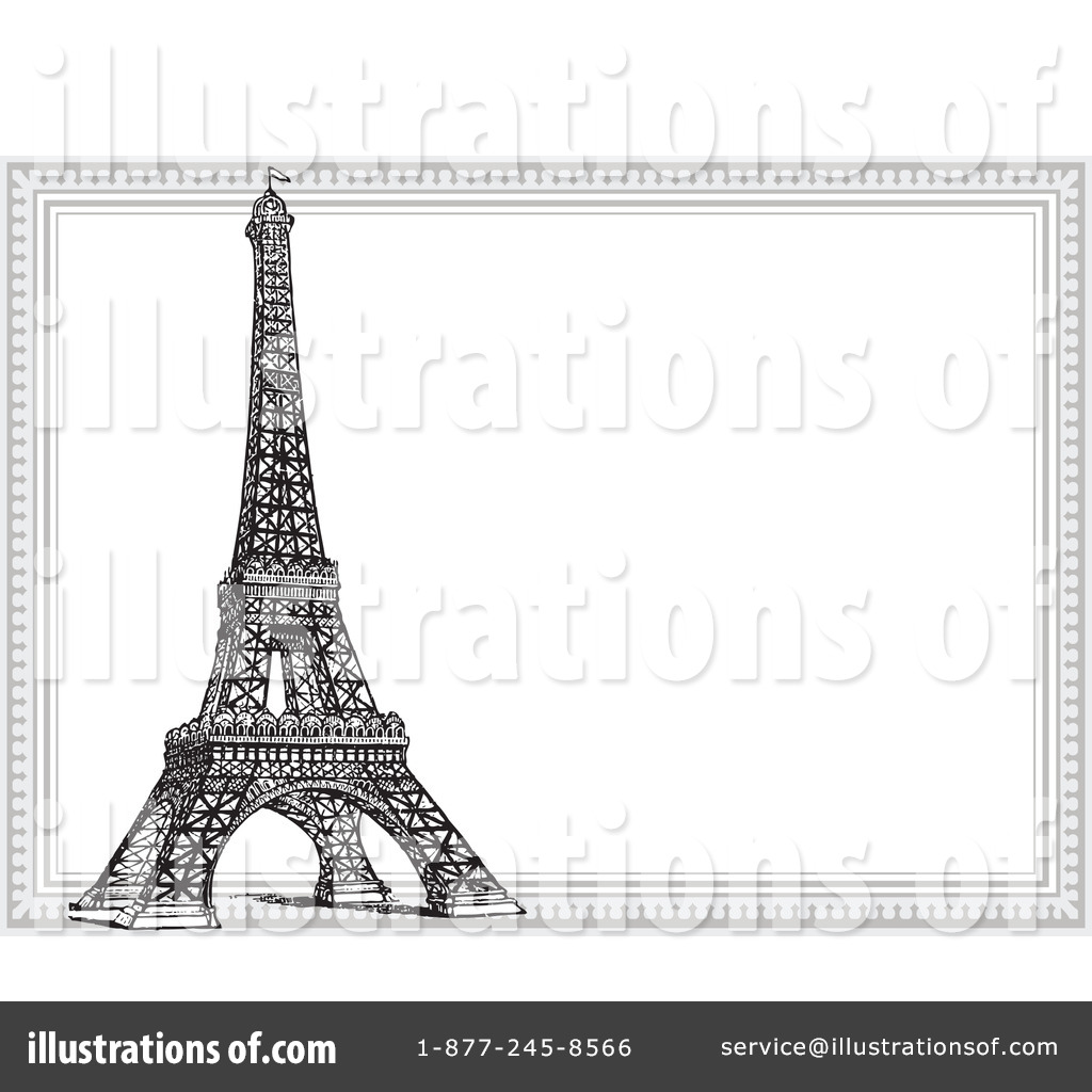 royalty free rf eiffel tower clipart illustration 1088359 by bestvector - Eiffel Tower Picture Frame