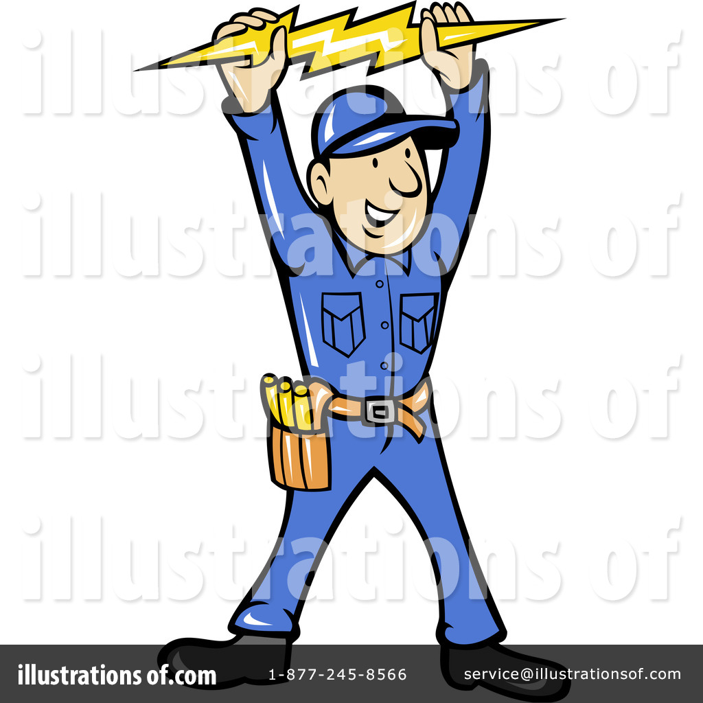 Clip Art Electrician Clipart electrician clipart 1060915 illustration by patrimonio royalty free rf patrimonio