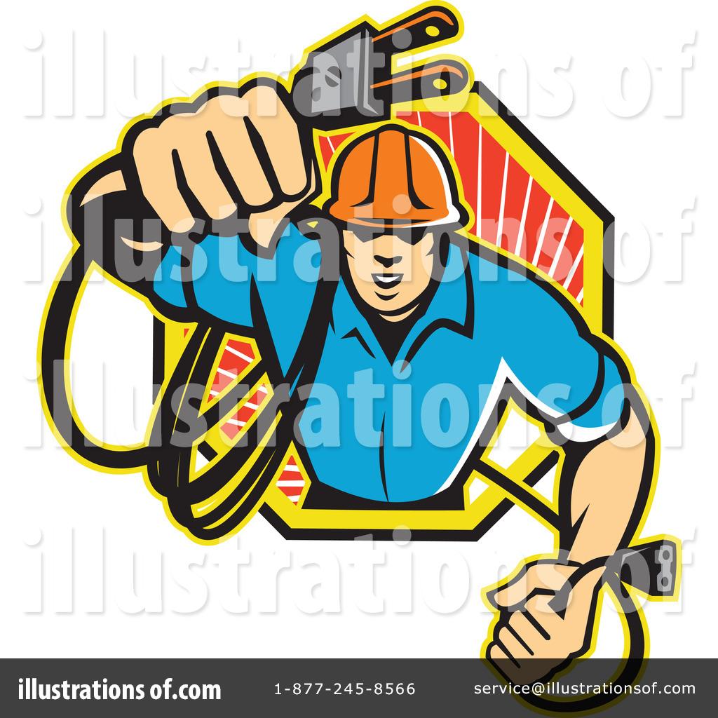 Electrician Clipart #1113046 - Illustration by patrimonio