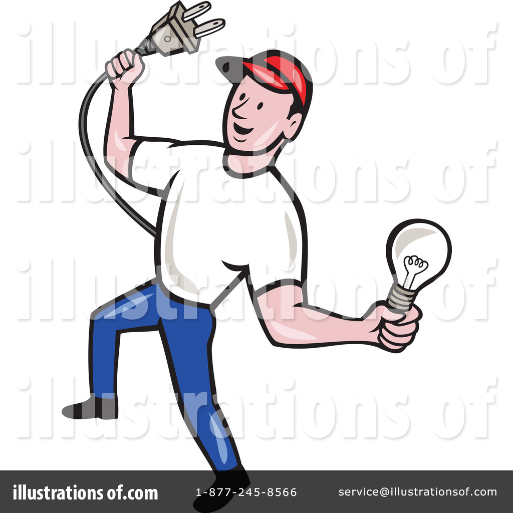 Electrician Clipart #1242089 - Illustration by patrimonio