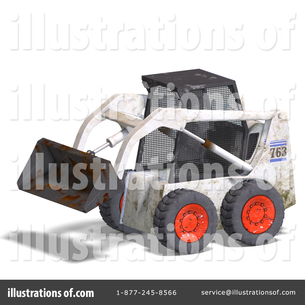 Excavator Clipart #1075839 - Illustration by Ralf61