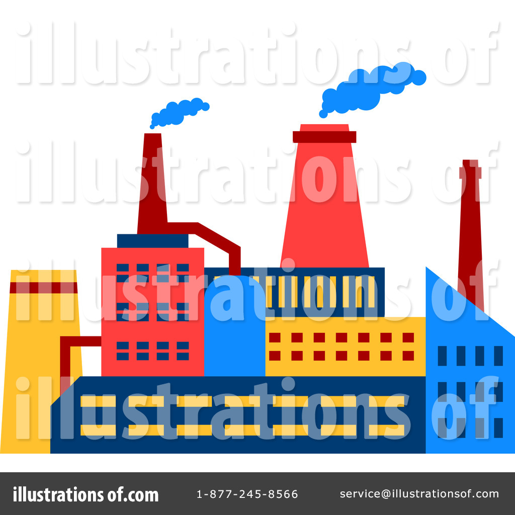 Factory Clipart #1258872 - Illustration by Vector Tradition SM