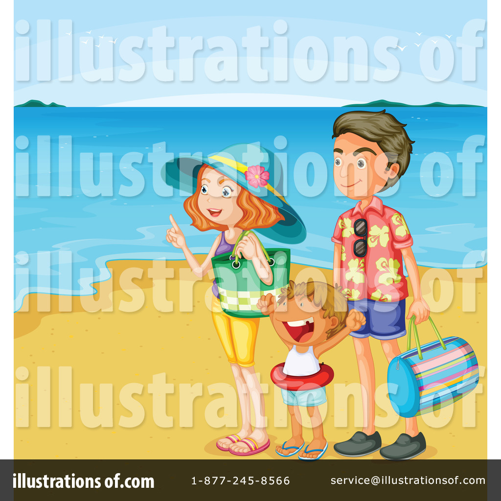 Royalty Free RF Family Vacation Clipart Illustration By Graphics