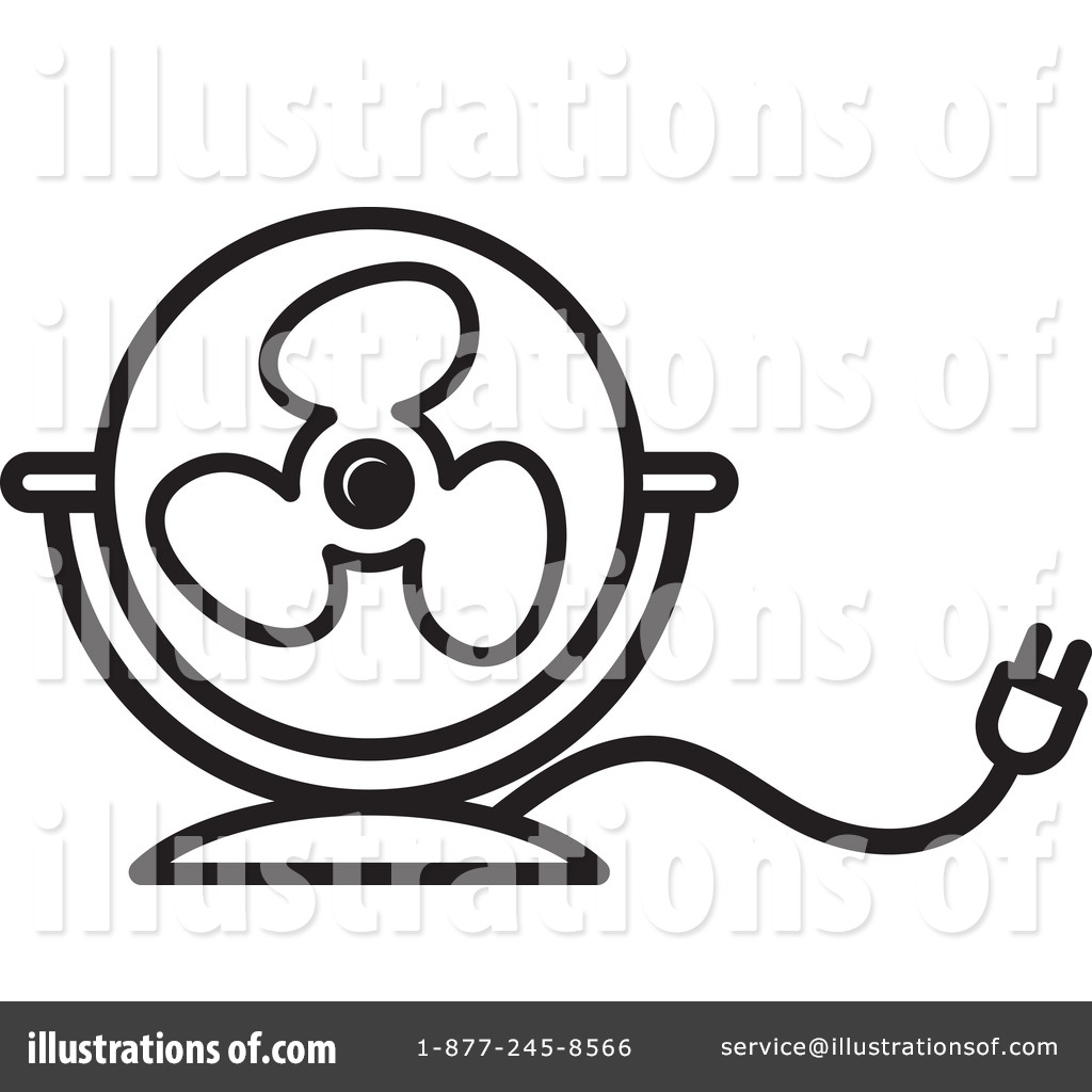 fan clipart black and white. royalty-free (rf) fan clipart illustration #1233755 by lal perera black and white s