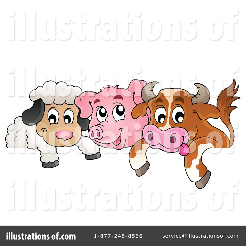 Farm Animal Clipart #1216409 - Illustration by visekart
