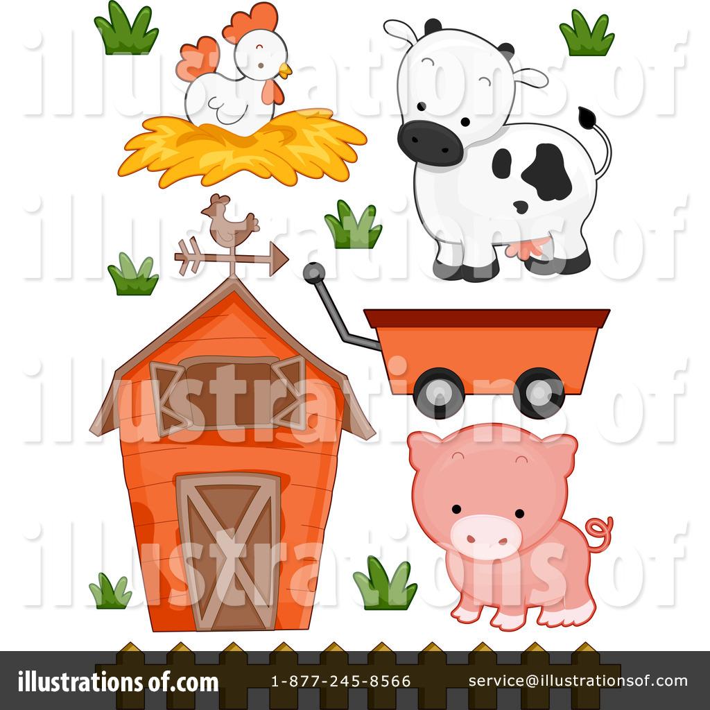 Farm Animals Clipart #1212363 - Illustration by BNP Design