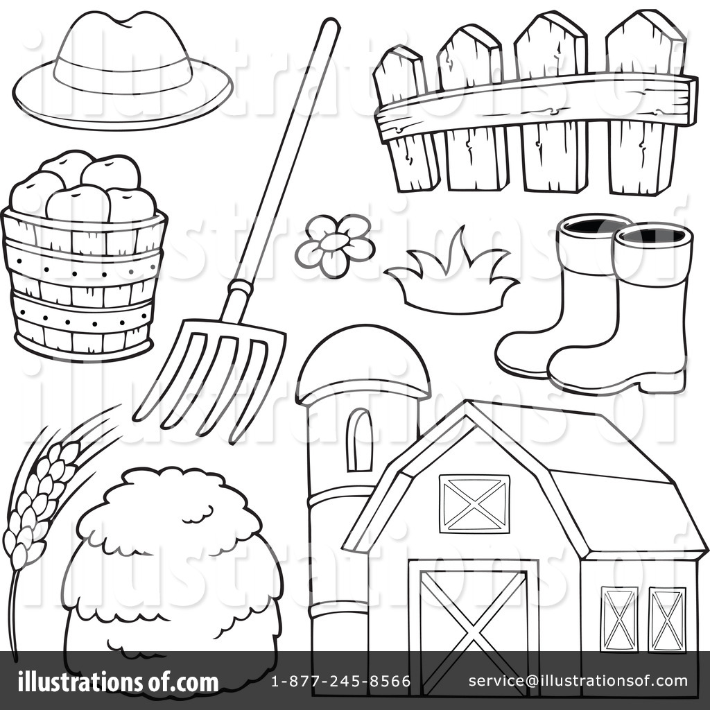 Farm Clipart #1100779 - Illustration by visekart