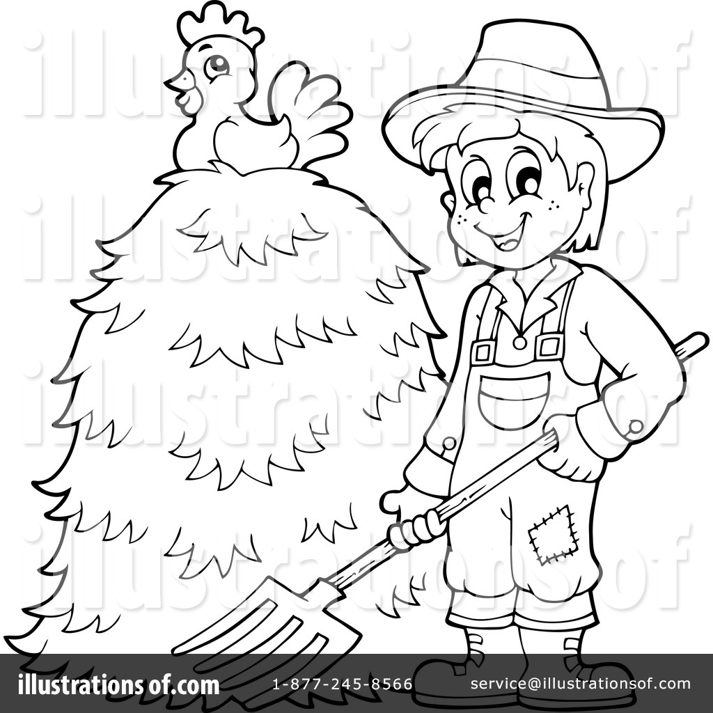Farmer Clipart #1216417 - Illustration by visekart