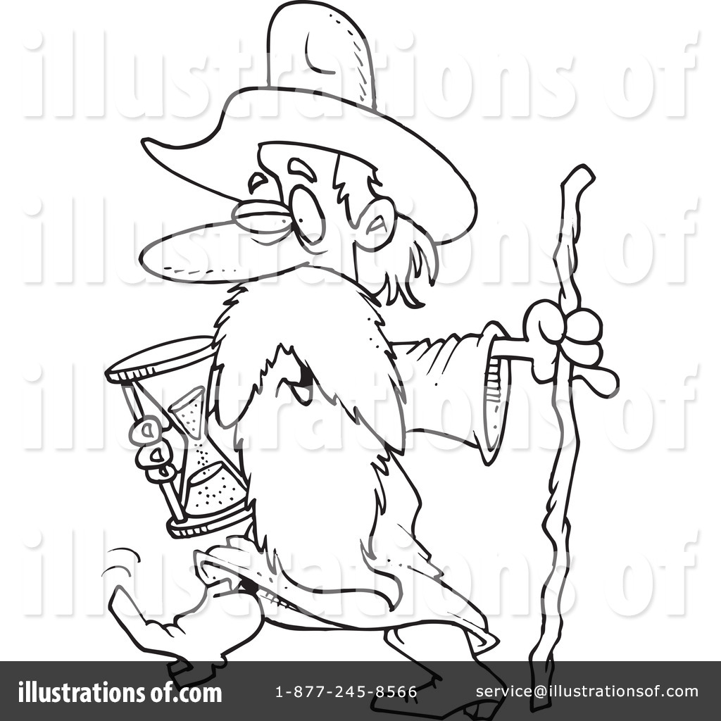Father Time Clipart #1044275 - Illustration by Ron Leishman