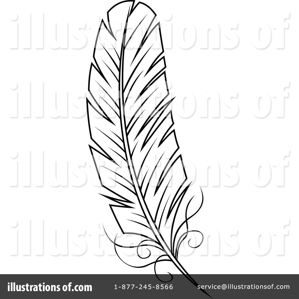 Feather Clipart #1146250 - Illustration by Vector Tradition SM