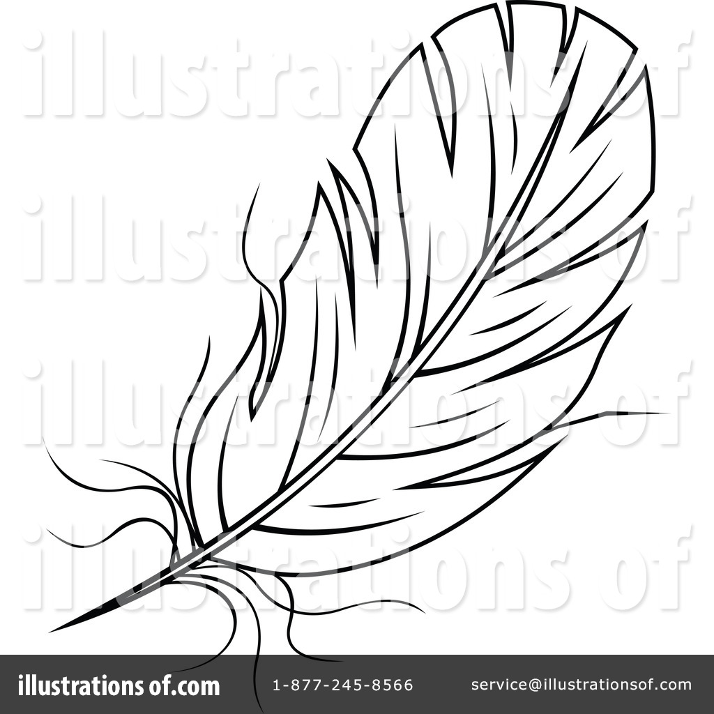 Feather Clipart #1285849 - Illustration by Vector Tradition SM