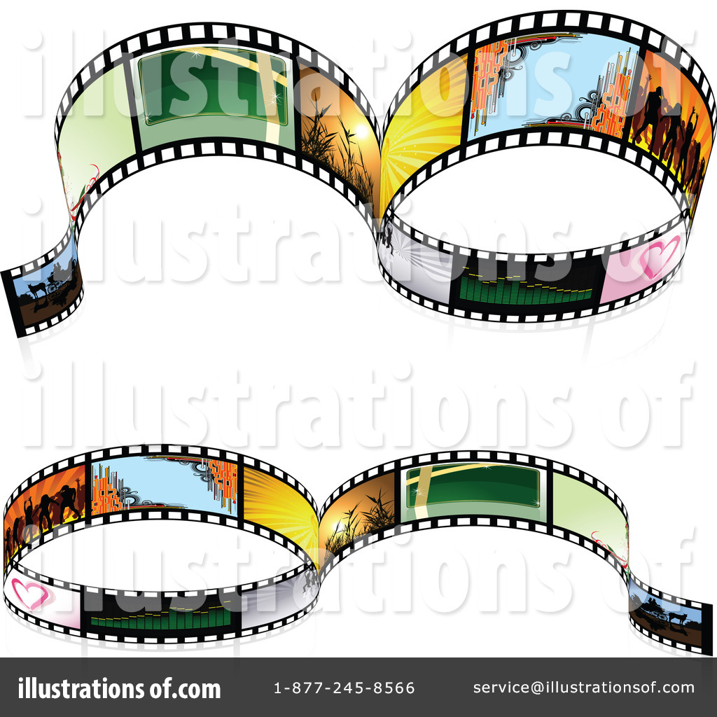 Film Strip Clipart #1066877 - Illustration by dero