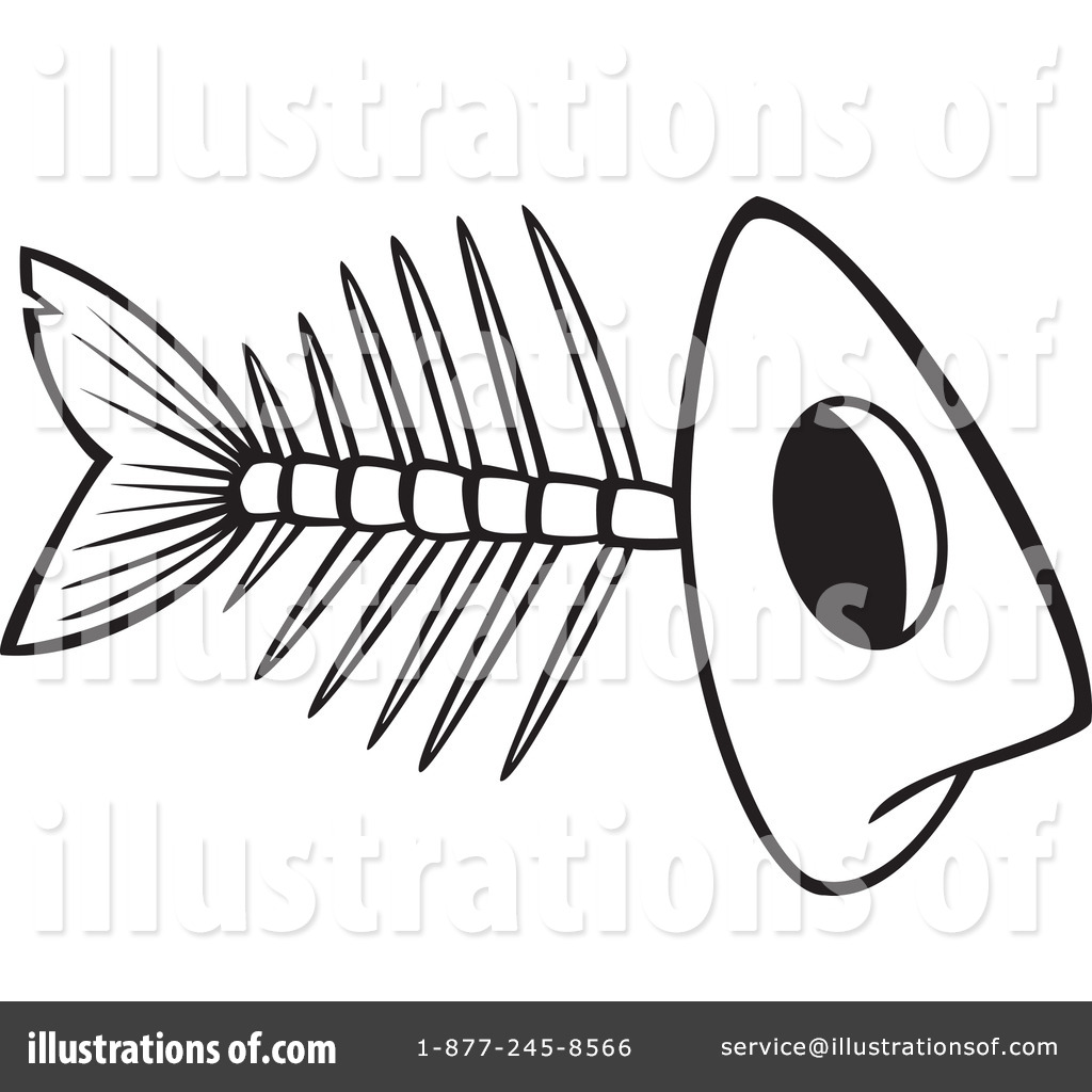 Royalty Free RF Fish Bones Clipart Illustration 1192296 By Toonaday