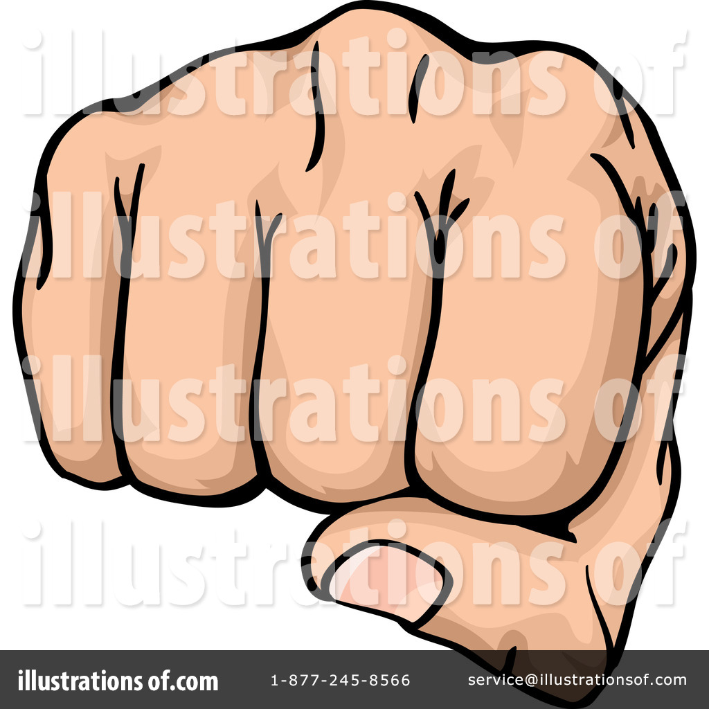 Fist Clipart #1050200 - Illustration by AtStockIllustration