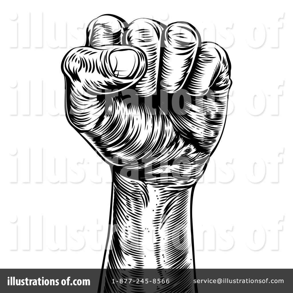 Fist Clipart #1269323 - Illustration by AtStockIllustration