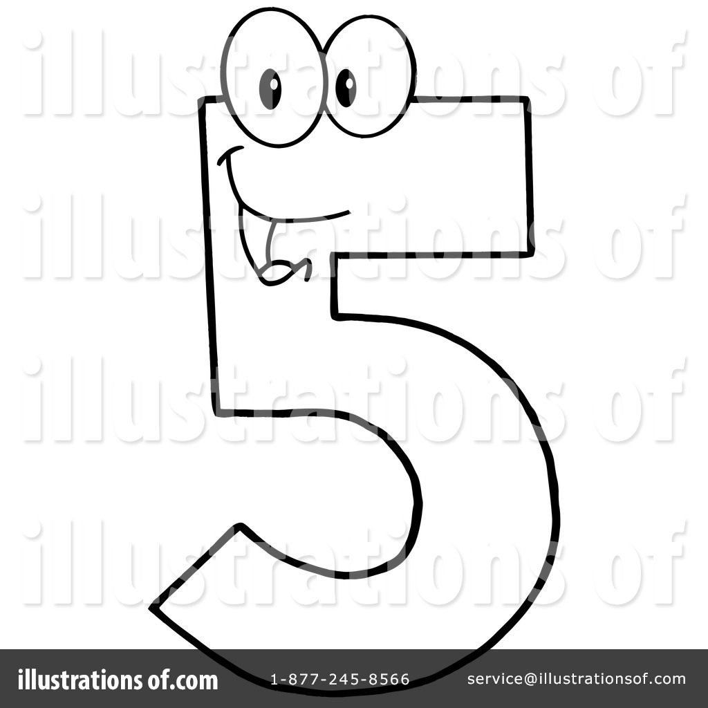 Five Clipart #1116173 - Illustration by Hit Toon