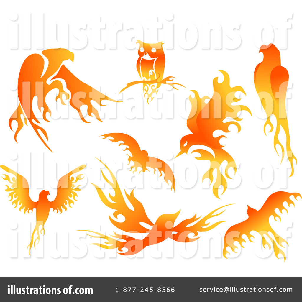 Flames Clipart #1112337 - Illustration by BNP Design Studio