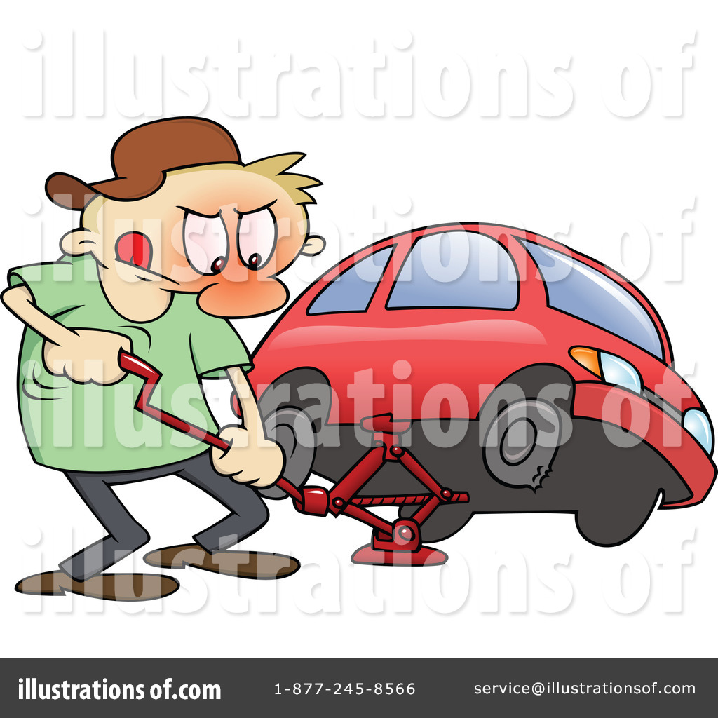 Flat Tire Clipart 63970 Illustration By Gnurf
