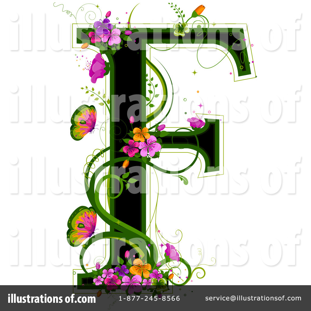 Floral Letter Clipart   Illustration By Bnp Design Studio