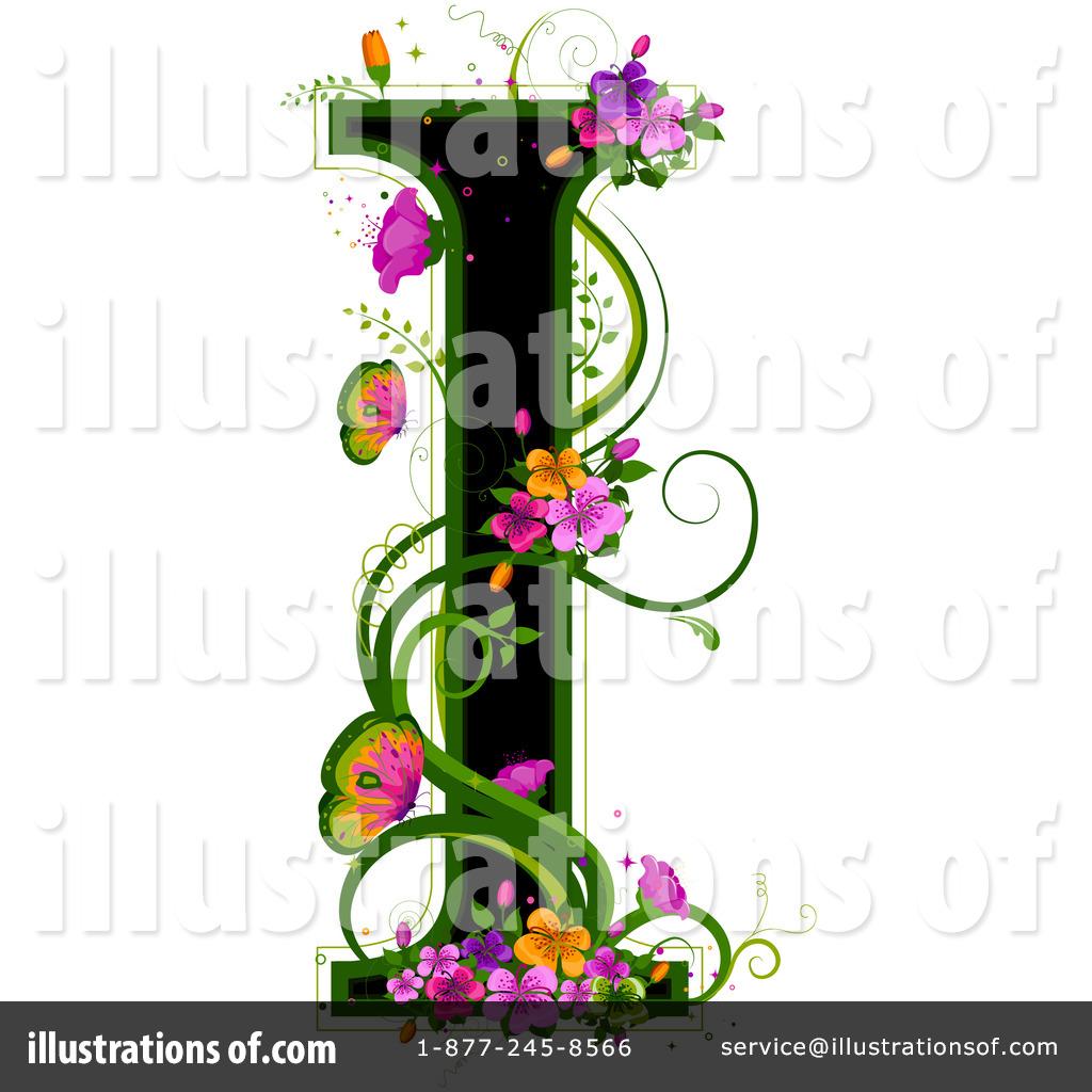 Floral Letter Clipart   Illustration By Bnp Design Studio