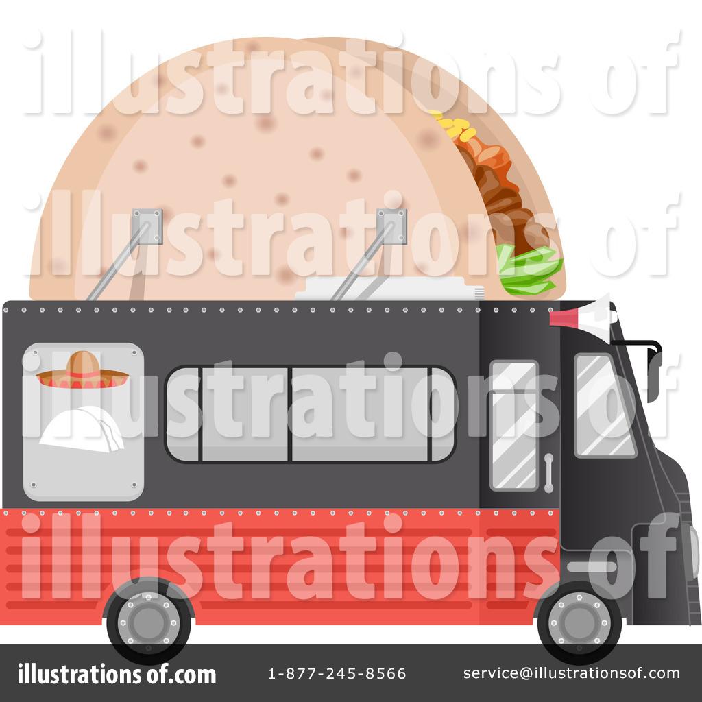 Royalty Free RF Food Truck Clipart Illustration 1294520 By BNP Design Studio