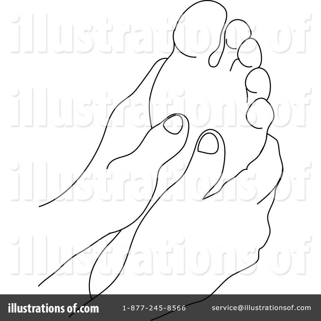 Free Coloring Pages Of Foot Rub
