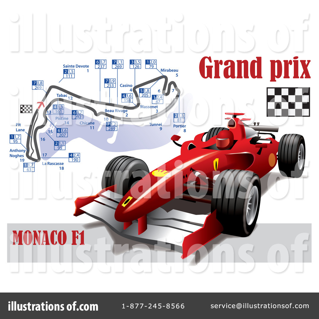 Formula 1 Clipart #1080370 - Illustration by Eugene
