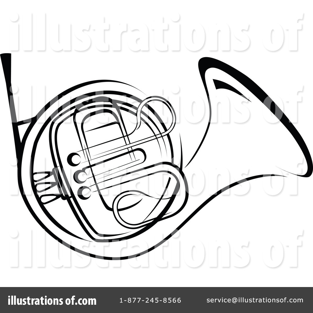 Clip Art French Horn Clipart french horn clipart 1064429 illustration by vector tradition sm royalty free rf sm