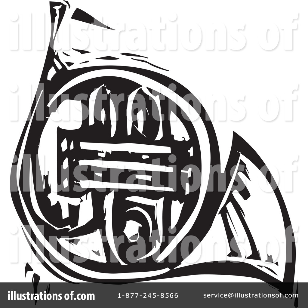 French Horn Clipart #1057963 - Illustration by xunantunich