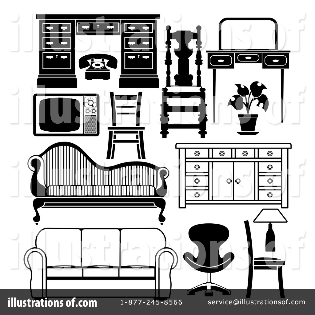 Superb Royalty Free (RF) Furniture Clipart Illustration #1184784 By  AtStockIllustration