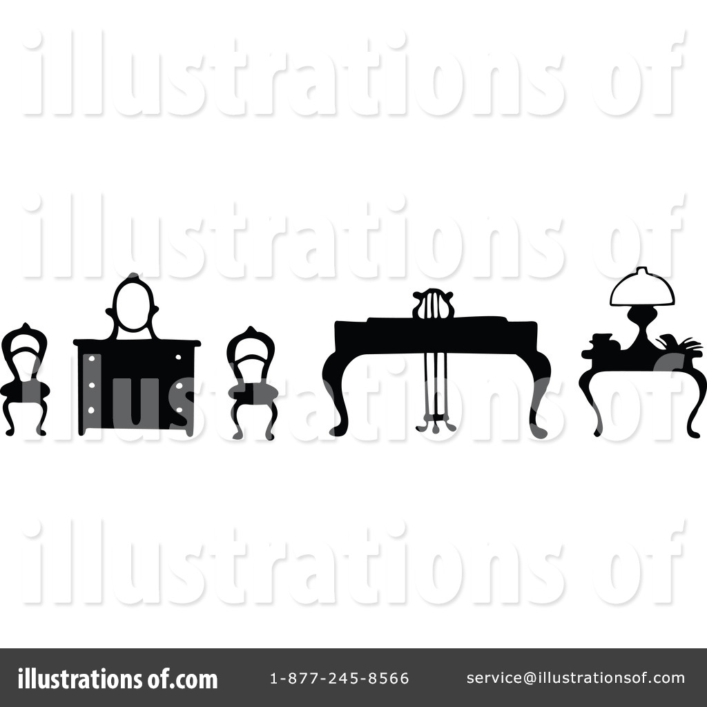 Marvelous Royalty Free (RF) Furniture Clipart Illustration #1146932 By Prawny Vintage