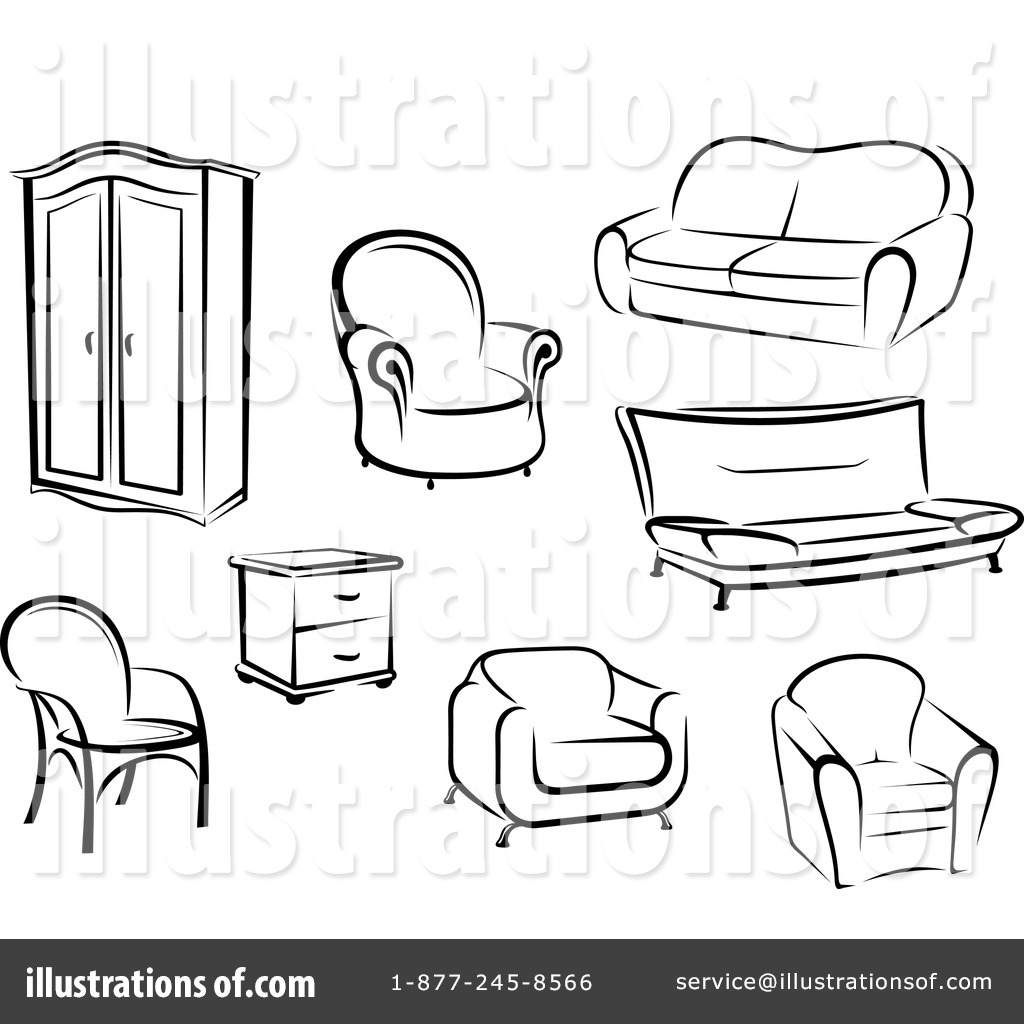 Clip Art Furniture Clip Art furniture clipart 1229351 illustration by vector tradition sm royalty free rf stock sample