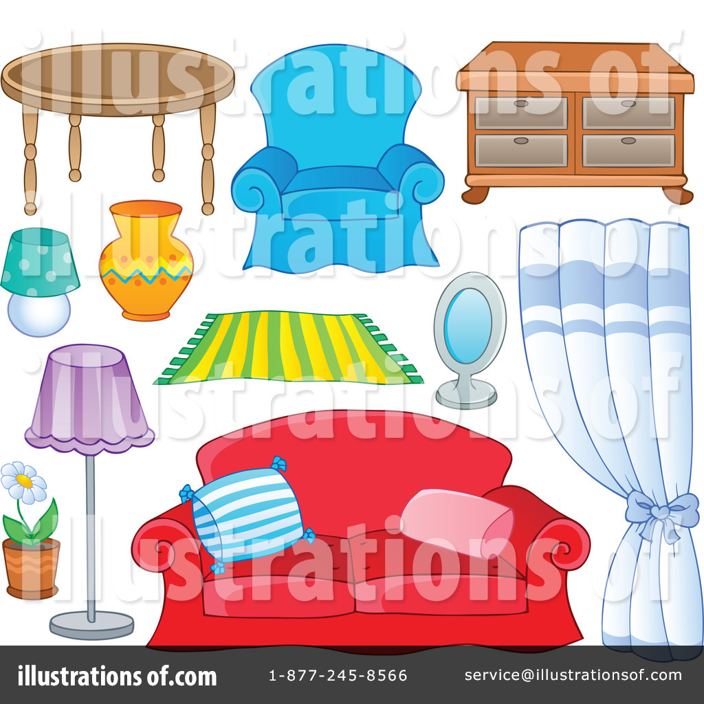 Royalty Free (RF) Furniture Clipart Illustration #1112682 By Visekart