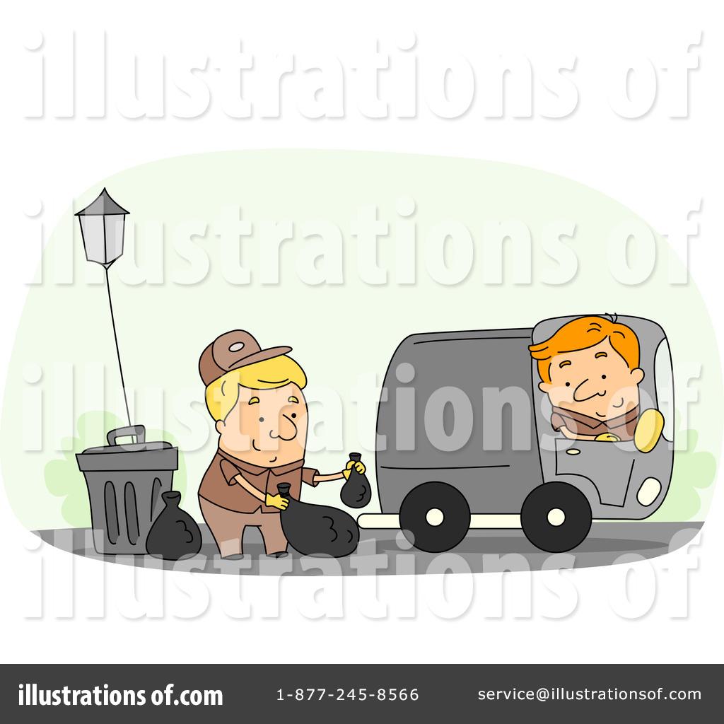 Royalty Free RF Garbage Man Clipart Illustration 1067676 By BNP Design Studio