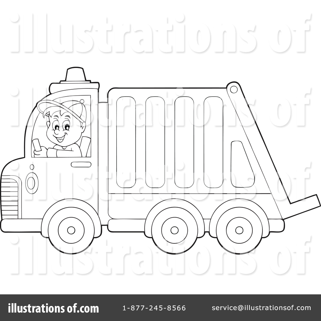 Garbage truck coloring book pages - Royalty Free Rf Garbage Truck Clipart Illustration 1365911 By Visekart