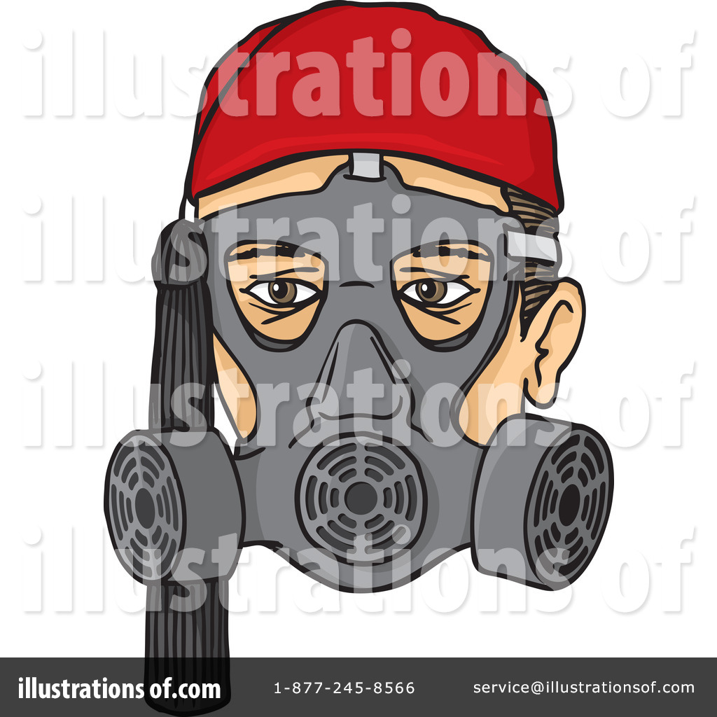 Gas Mask Clipart #1069021 - Illustration by Any Vector