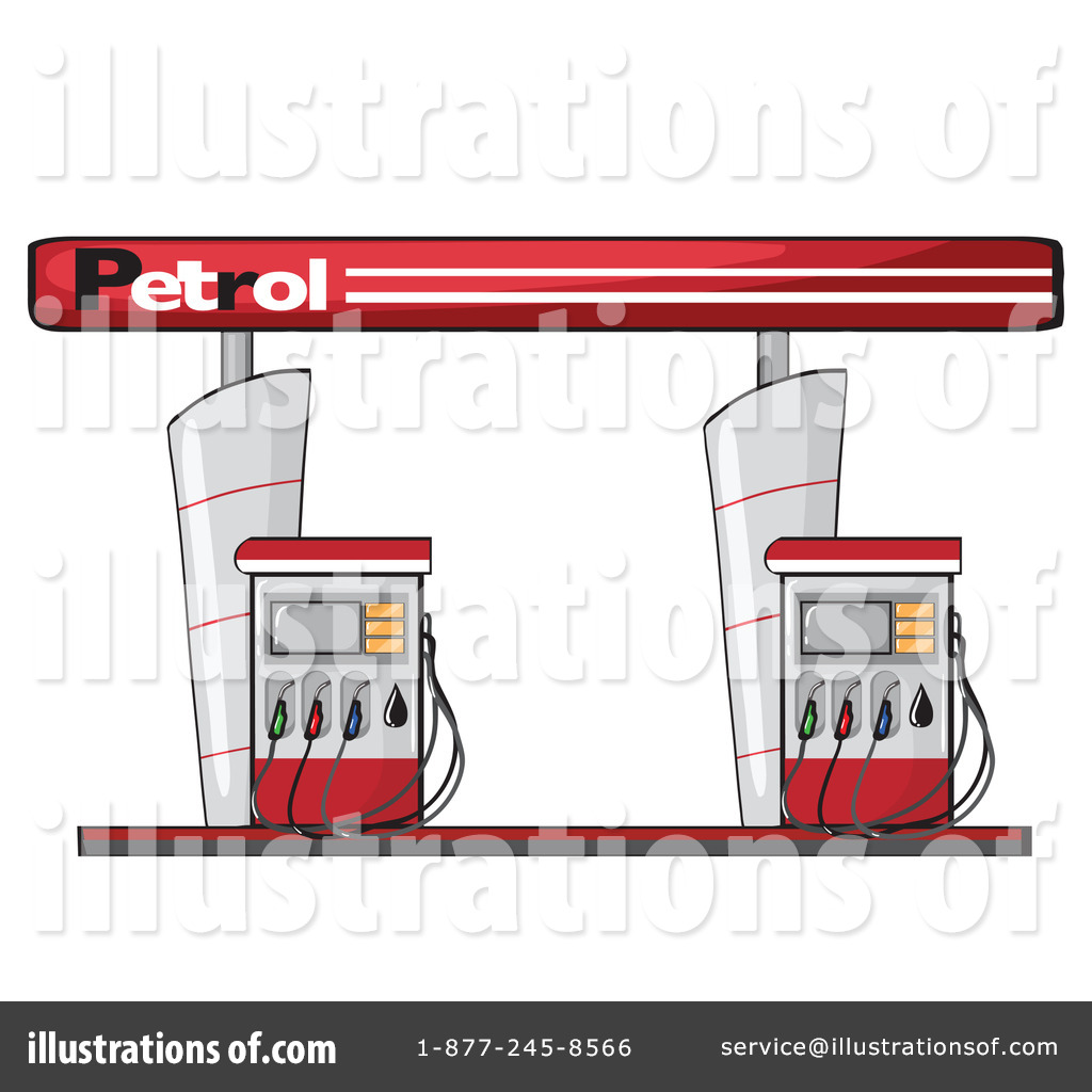 Gas Station Clipart #1151178 - Illustration by colematt