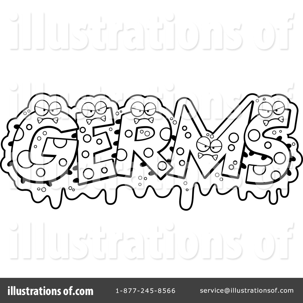 royalty free rf germs clipart illustration 1229758 by cory thoman - Free Germ Coloring Pages
