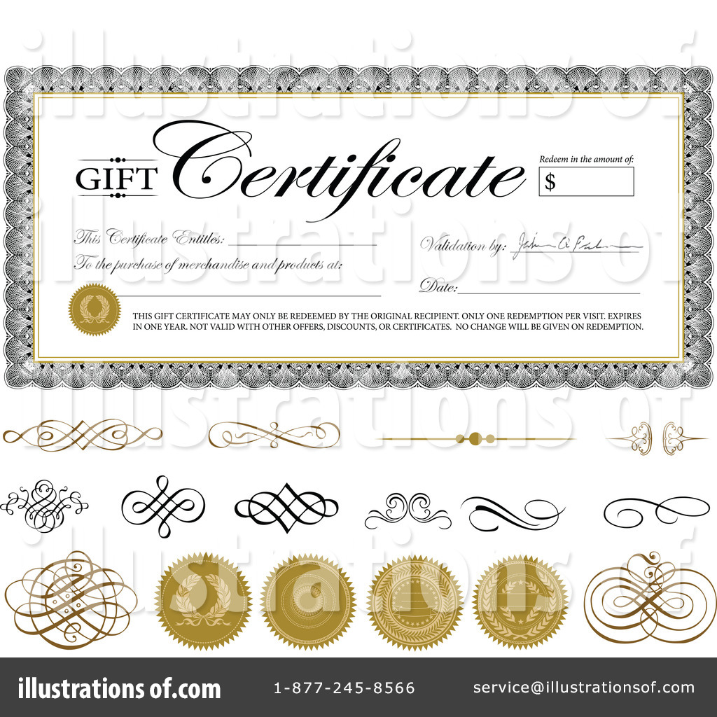 gift certificate clipart 1071785 illustration by bestvector rh illustrationsof com blank gift certificate clipart gift certificate clipart