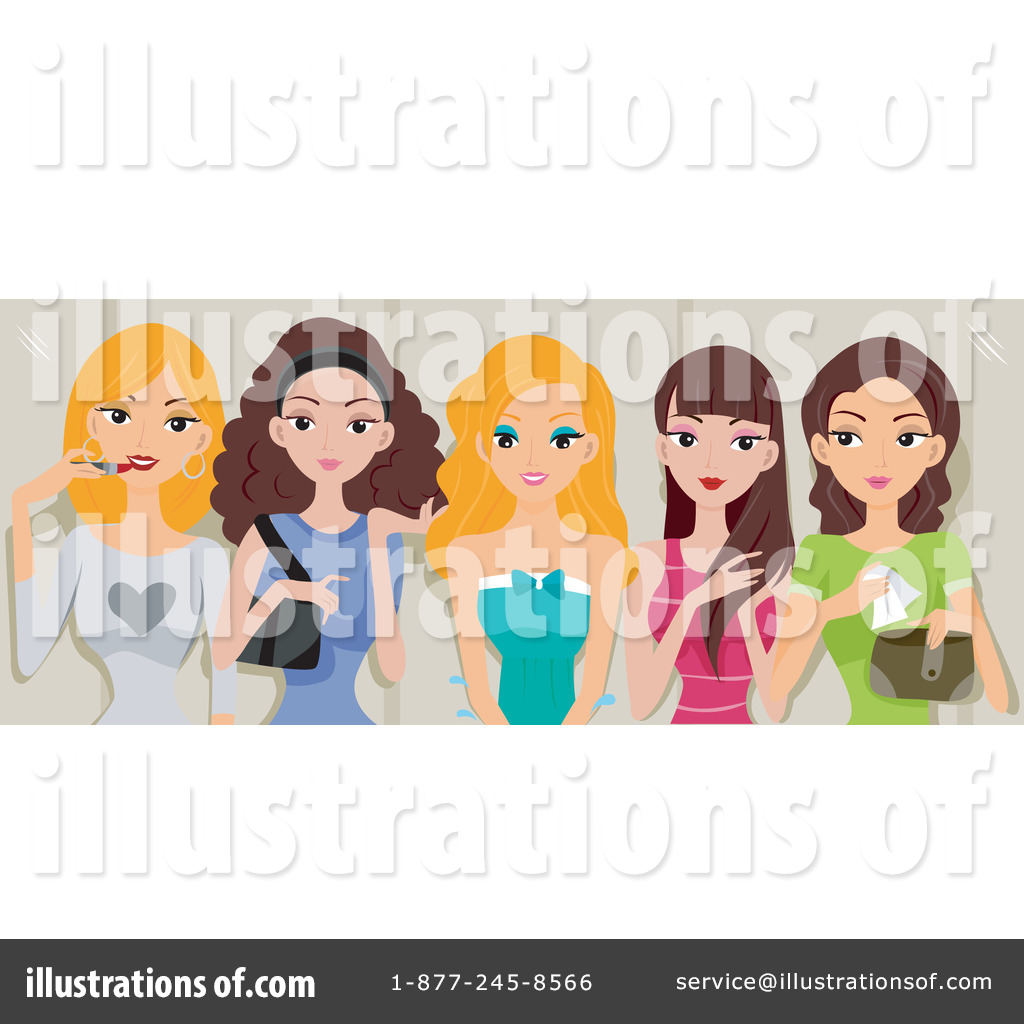Girlfriends Clipart #76337 - Illustration by BNP Design Studio