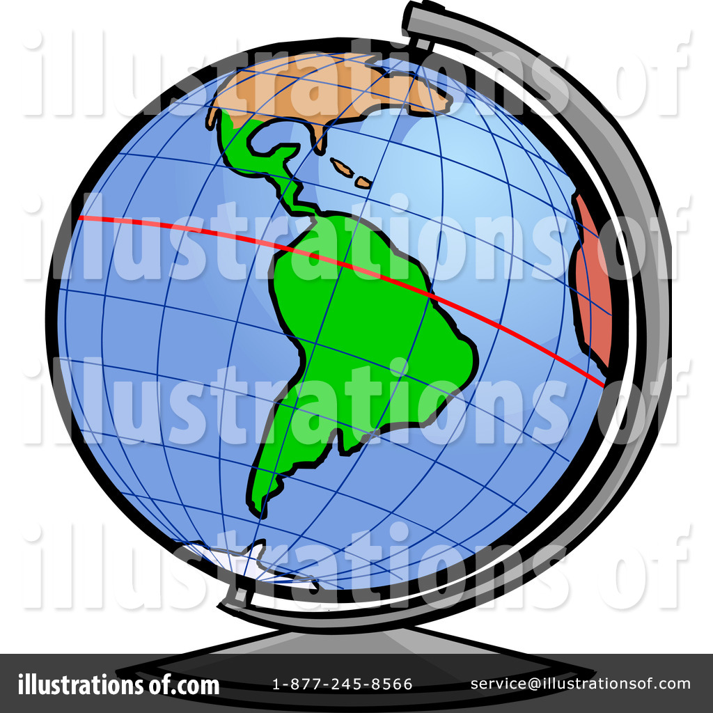 globe clipart 1106653 illustration by cartoon solutions rh illustrationsof com Globe with Equator Line Compass Clip Art